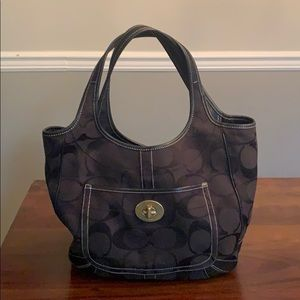 Black on black Coach Tote!